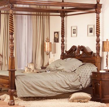 KR: Una cama de ensueño: dosel de madera