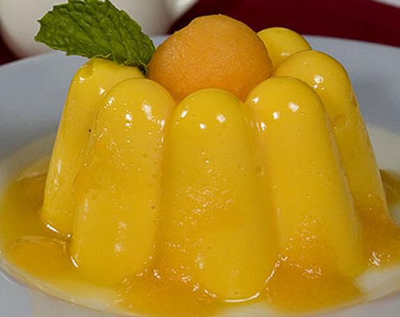 Musse de melão com maracujá light