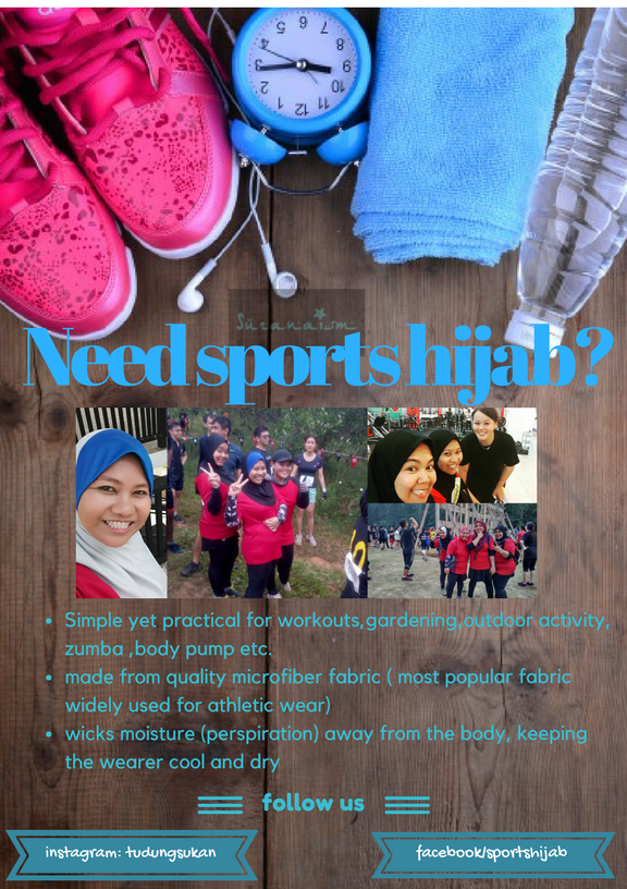 Gurls...get your sports hijab here!!