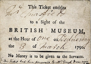 An entrance ticket to the British Museum (1790)    © Trustees of the British Museum
