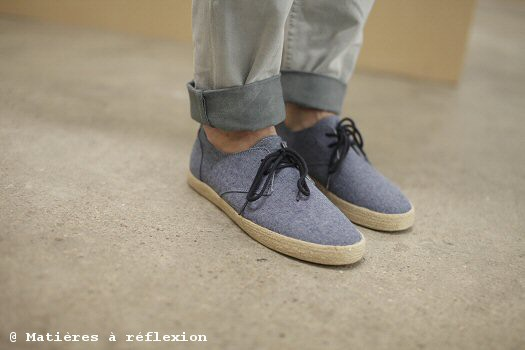 Pointer Espadrille Chester Chambray