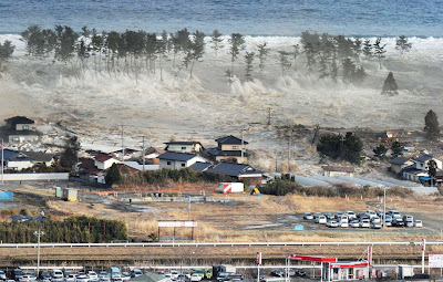 Whirlpool after Tsunami hits Japan 8.9 magnitude earthquake