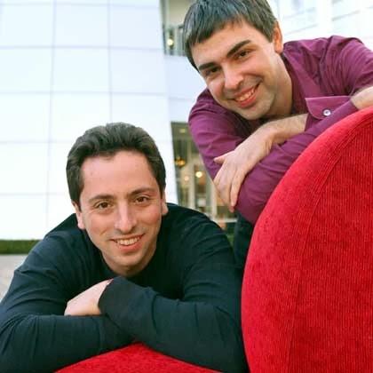 Dumb & Dumber: Sergey Brin & Larry Page.