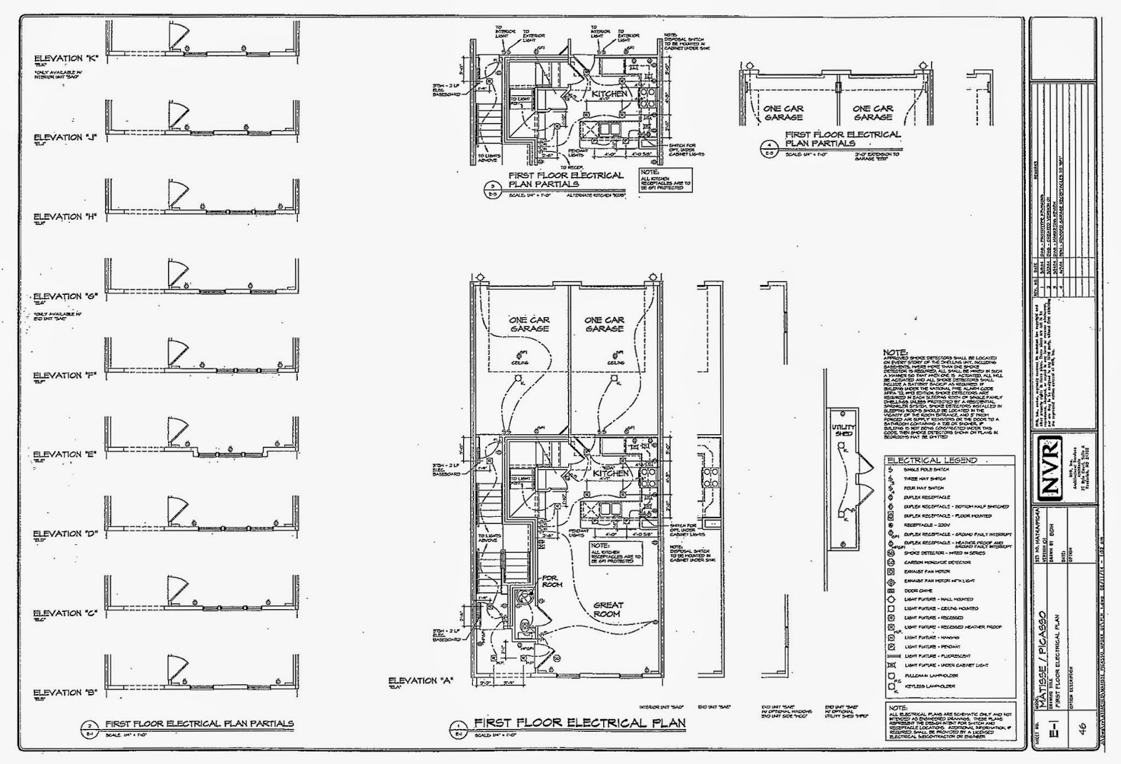 Matisse Floor, Electrical, and Architectural Plans - A Maryland ...