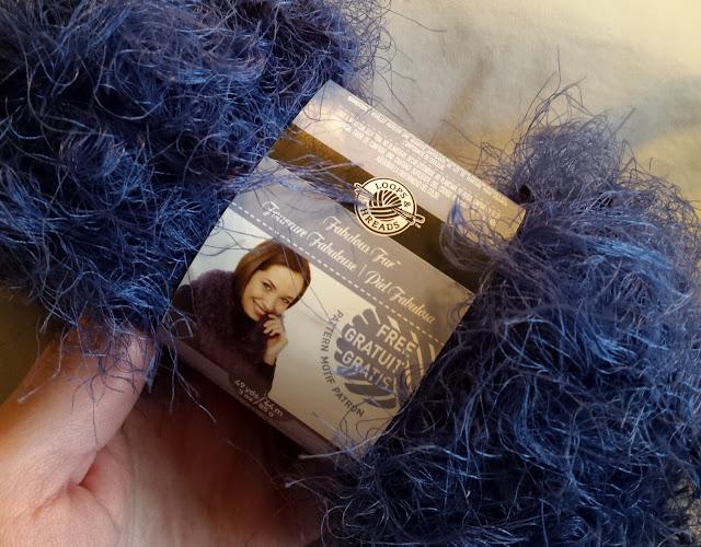 fuzzy blue yarn