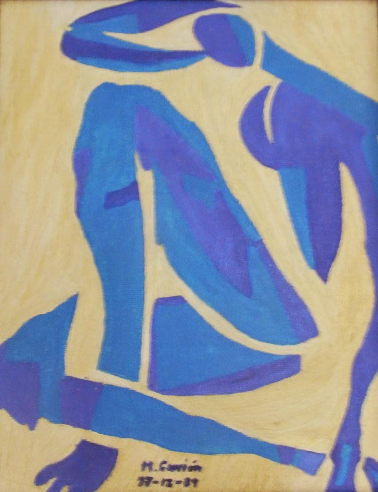 Desnudo azul IV 1952, de Henri Matisse Edición
