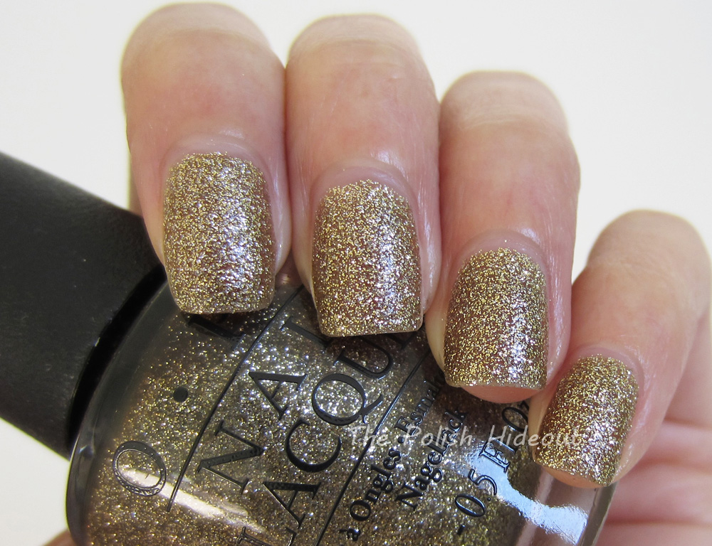 The Polish Hideout: OPI All Sparkly and Gold