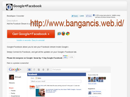 Update Status Facebook Lewat Ggoogle Plus