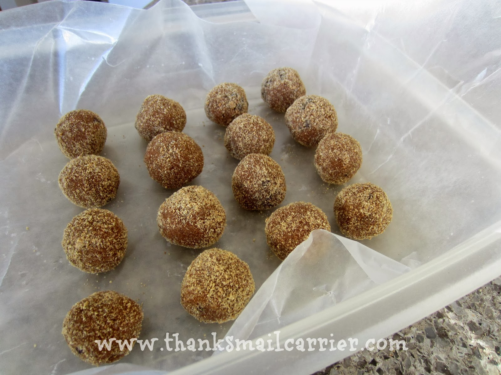 apple peanut butter balls