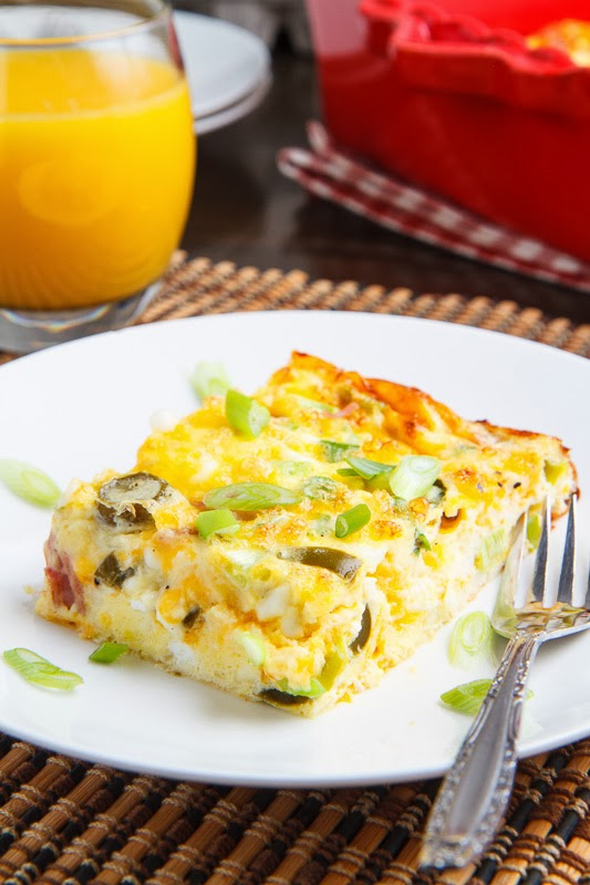 Ham and Cheese Egg Casserole on Closet Cooking