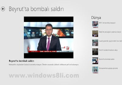Windows 8 aHaber Uygulaması