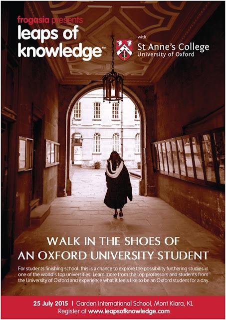Jom kita ke Persidangan Leaps of Knowledge 2015 bersama-sama St Anne's College, University of Oxford pada 25 Julai 2015 ni.