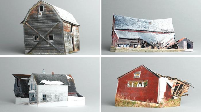 Increíble edificios abandonados en miniatura inspirados en fotografías