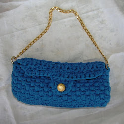 Pochette blu elettrico
