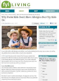 Allergies and Kids: Why Farms Are Better Than Cities
