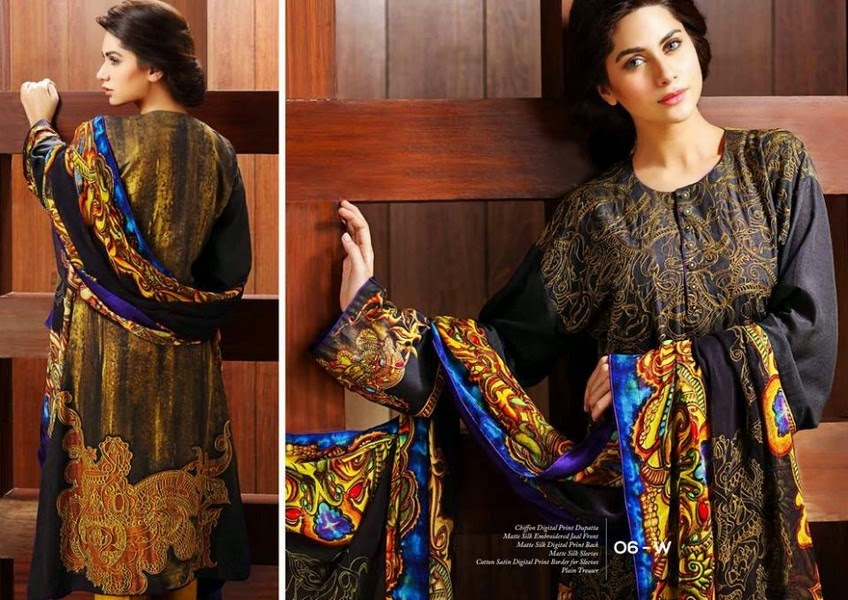 Matte Silk Collection 2014-2015 By Resham Ghar