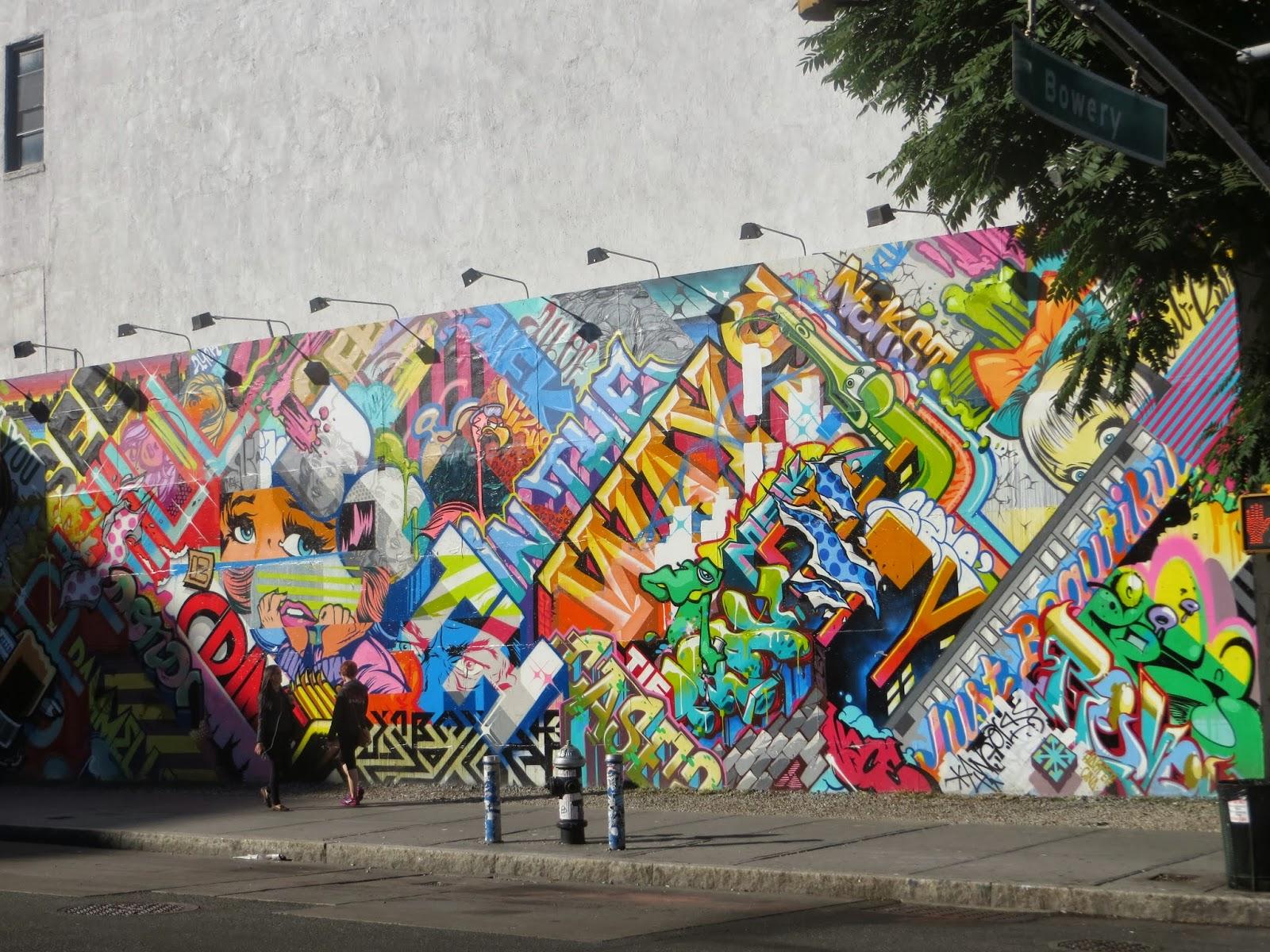 Revok and Pose Mural at Bowery and Houston Graffiti Wall