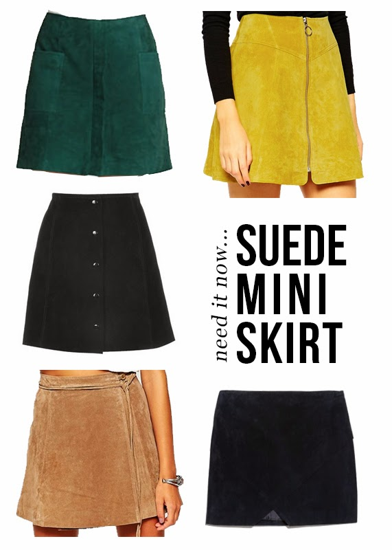 The Steele Maiden: Suede Mini Skirt trend for Spring