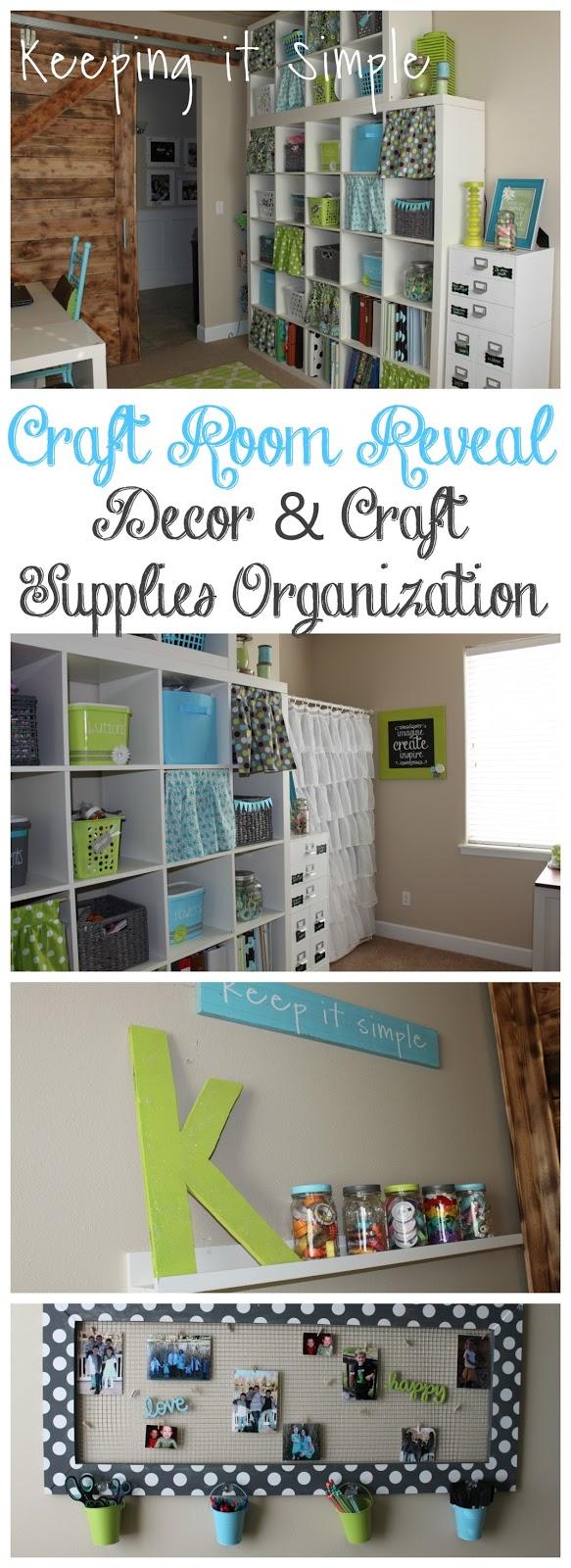 Craft room decor ideas and craft supplies organization for Craft supply organization ideas