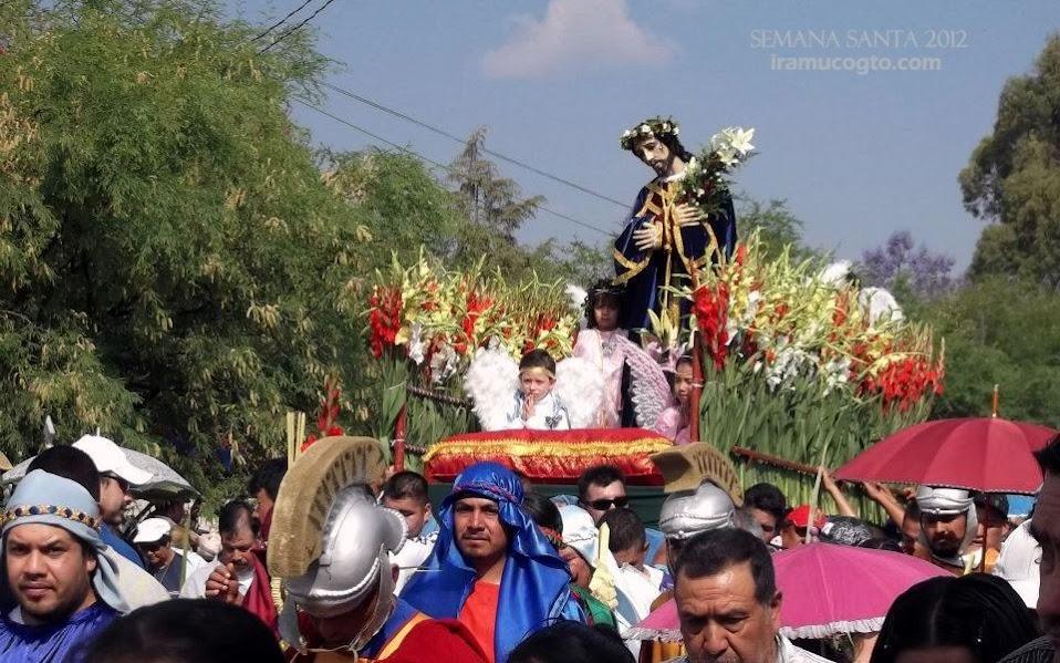 Señor de las Tres caidas domingo de ramos en Iramuco guanajuato 2012