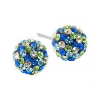 Blue Green Crystal Studs