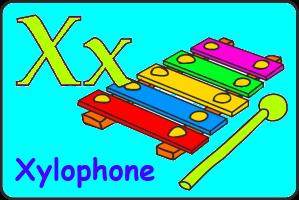 Карточка английской буквы X