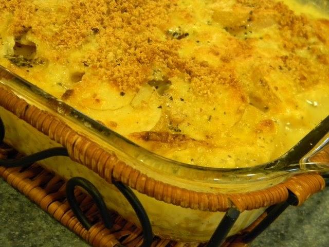 Home Joys: Caramelized Onion - Potato Gratin