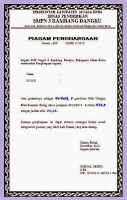 Soal Sd Siswa Berprestasi Info Pendidikan Terbaru Contoh Piagam Siswa Berprestasi Soal Tes