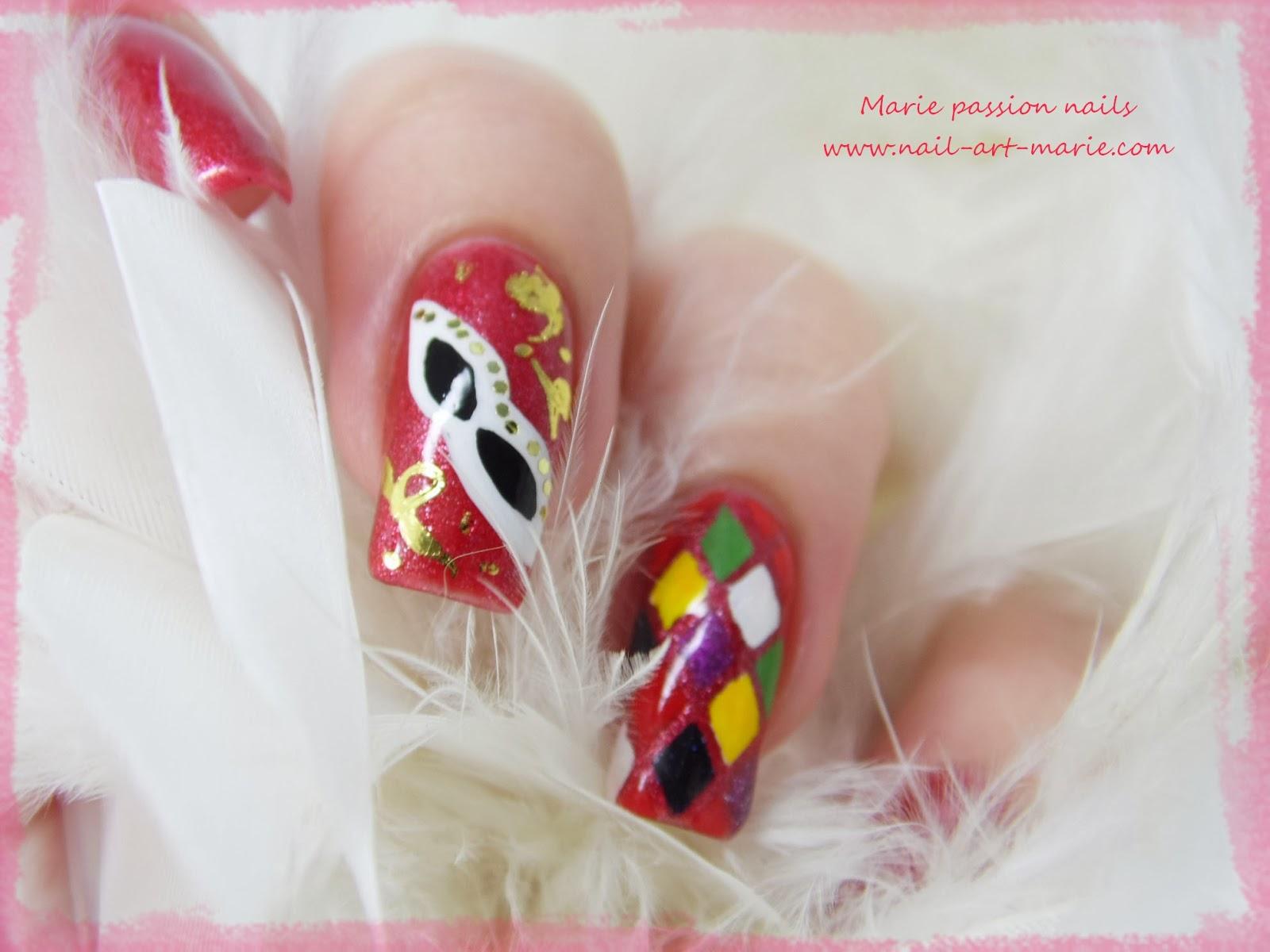 Nail Art Carnaval de Venise7