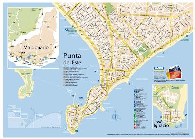 Mapa de Punta Del Este - Uruguai
