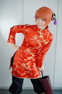 Kousaka Yun cosplay as Kagura from Gintama