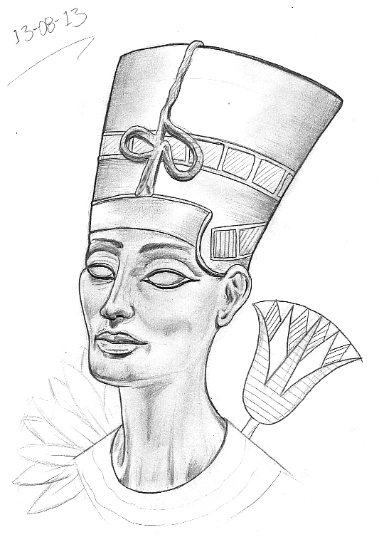 egyptian queen drawing - photo #3