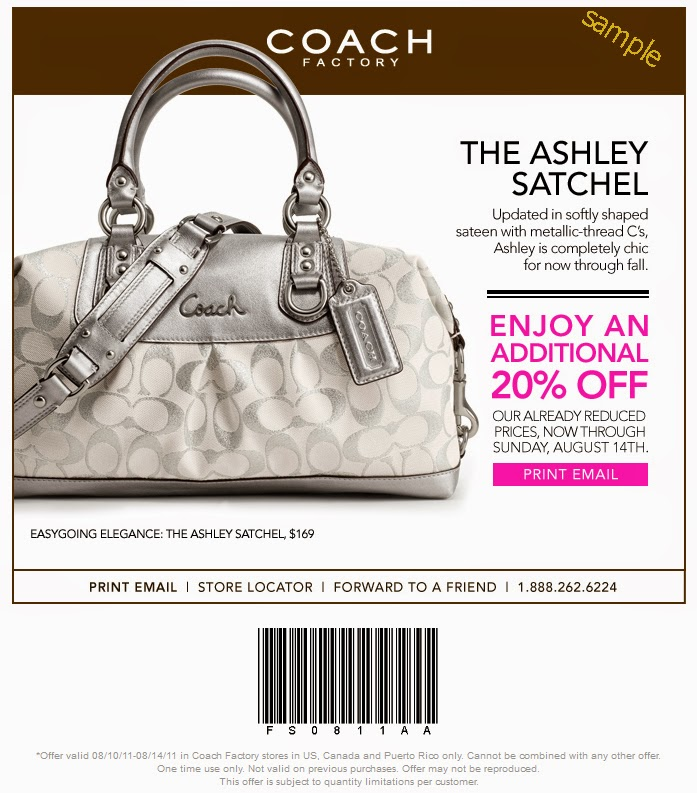 Coach factory outlet coupon printable