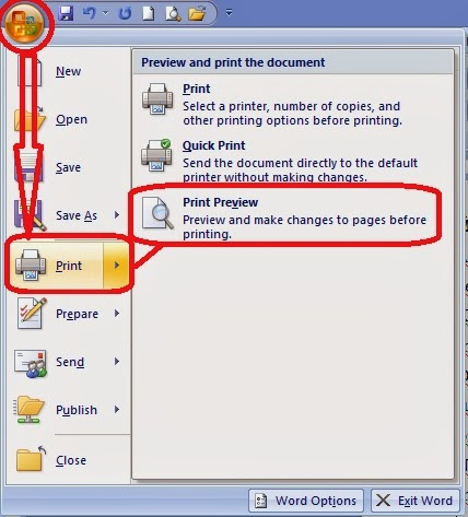 gambar cara membuka printpreview