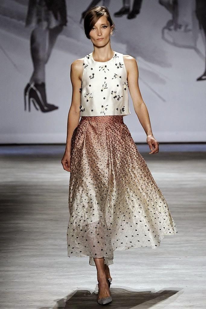 Tendências moda primavera-verão 2015 saias abaixo do joelho