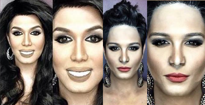 ... exceptional Makeup Transformation as Miss Philippines and Miss Jamaica