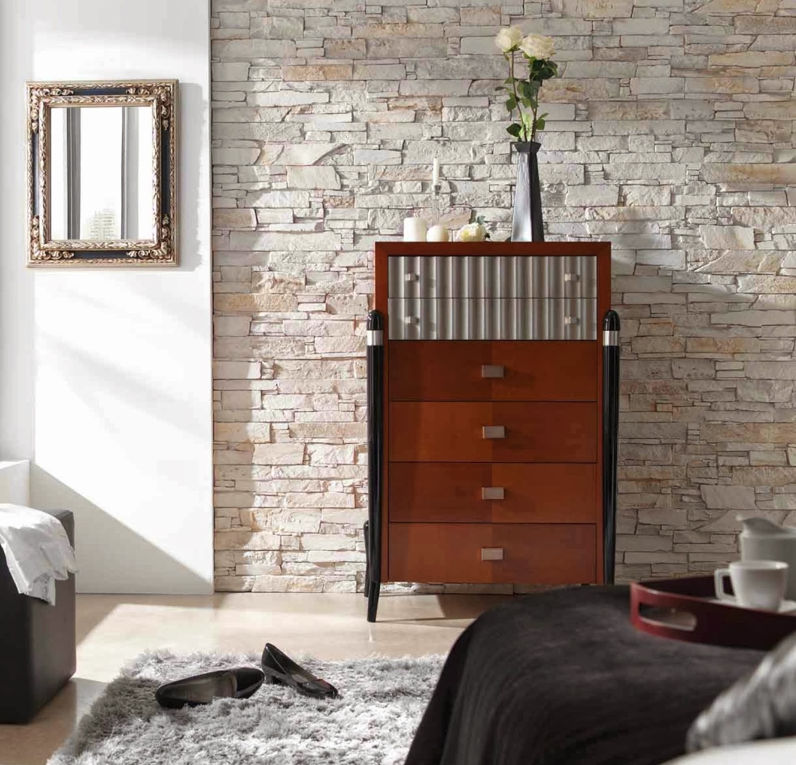 Fabulous faux contemporary interior wall panels from for Interior brick wall designs