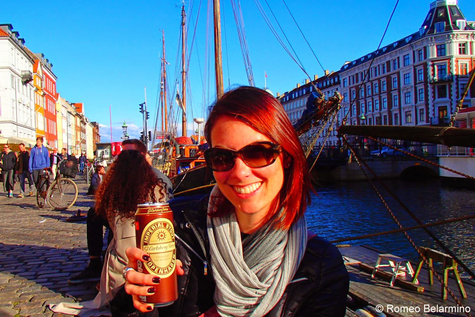 Enjoying Danish Beer Along the Nyhavn Canal Copenhagen Denmark