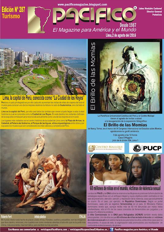 Revista Pacífico Nº 287 Turismo