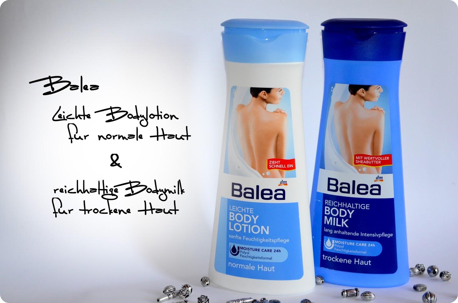 Balea Bodymilk und Bodylotion - alles auf einen Blick
