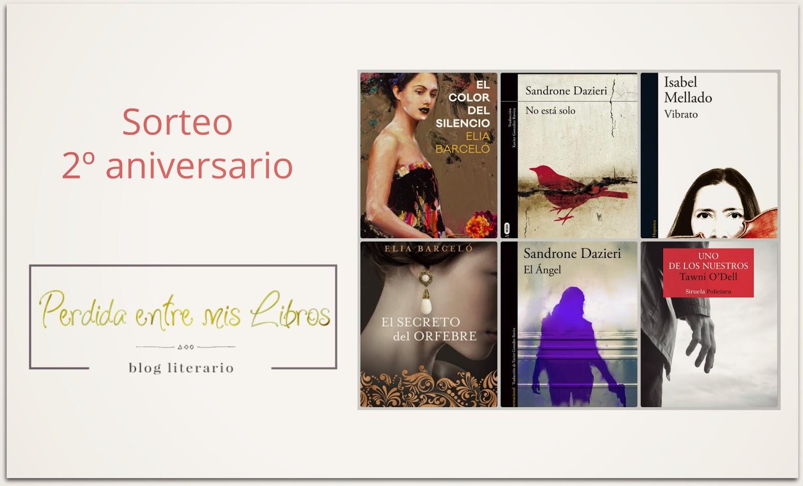Sorteo 2º aniversario del blog Perdida entre mis libros