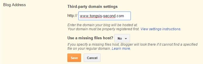 mengarahkan blogspot ke domain qwords