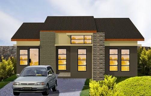 Contoh Sketsa Desain Rumah Mungil Minimalis Modern 2015