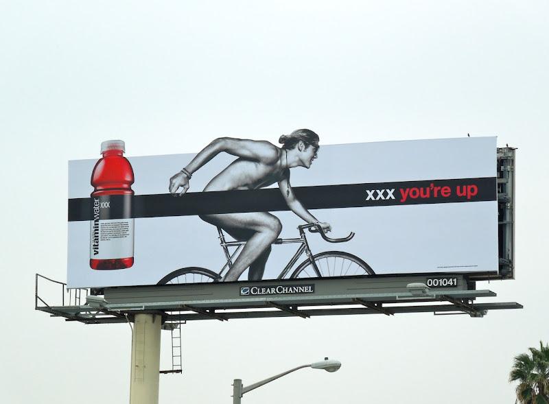 Vitamin Water XXX cyclist billboard