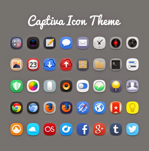ícones Captiva para Linux