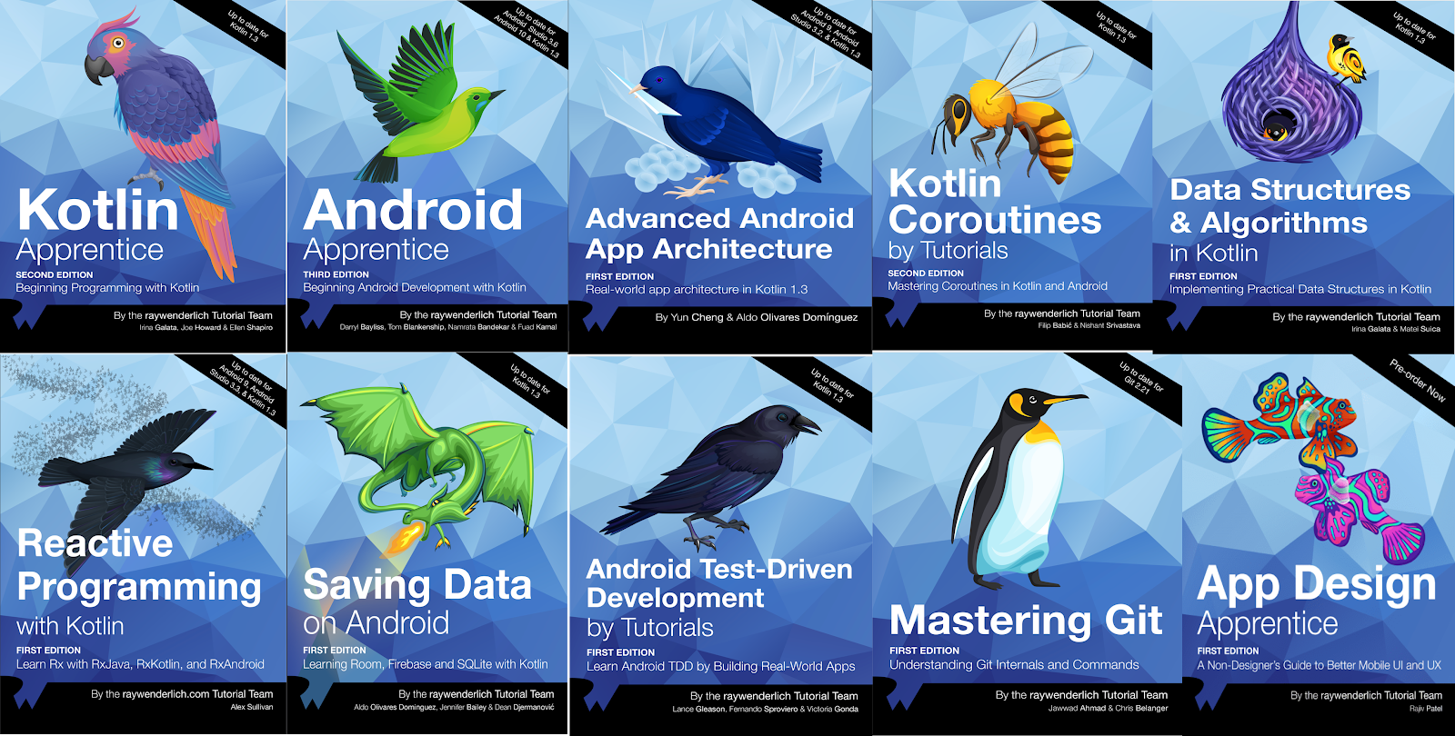 All Android Books From Ray Wenderlich
