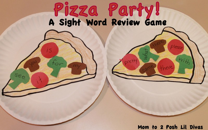 play to learn pizza party a sight word review game