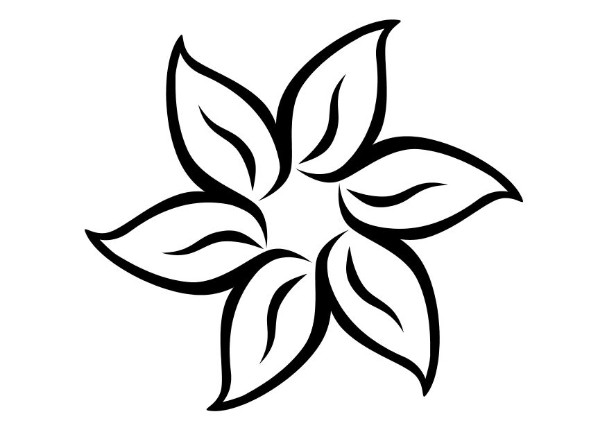 Summer Flower Coloring Pages Flower Coloring Page