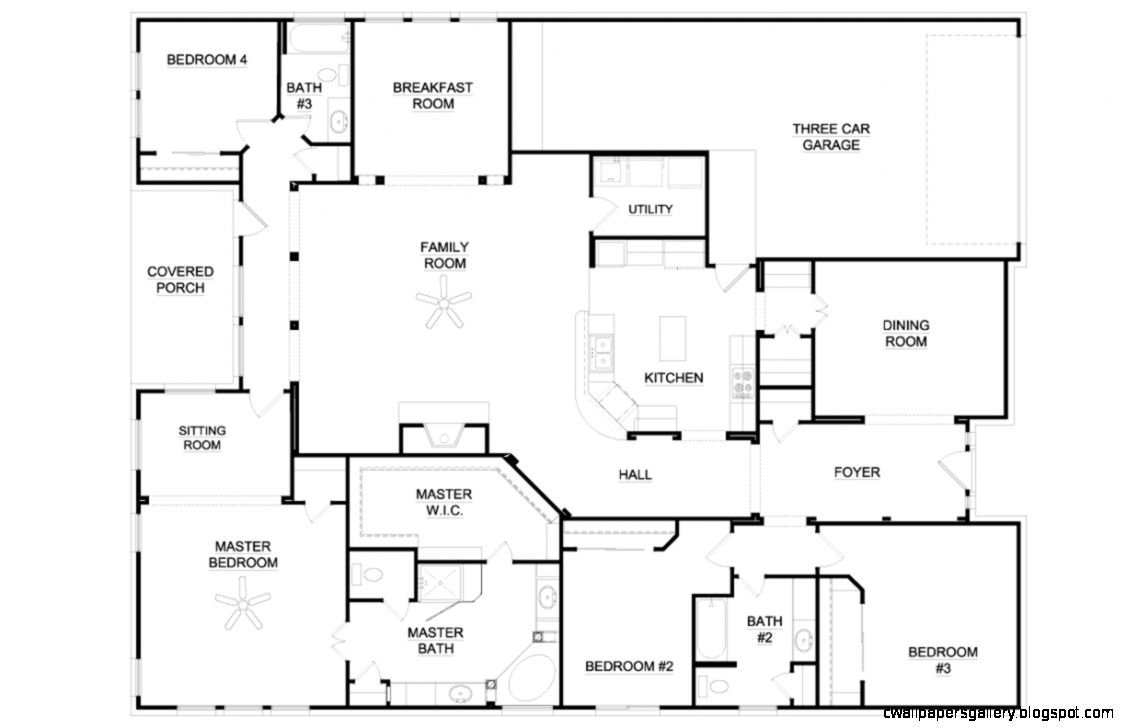 5 Bedroom Ranch House Floor Plans House Wallpaper with 4 Bedroom