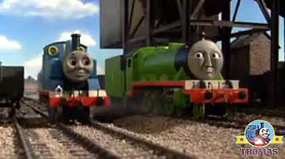 Green locomotion Henry train dirty black colliery coal pit trucks Thomas the tank engine and friends